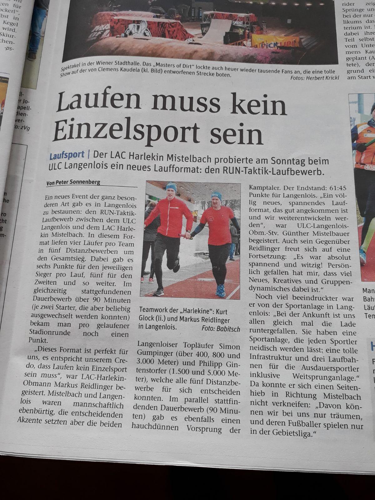 1.Run Taktik Bewerb Langenlois 18.März 2018 - NÖN Mistelbach