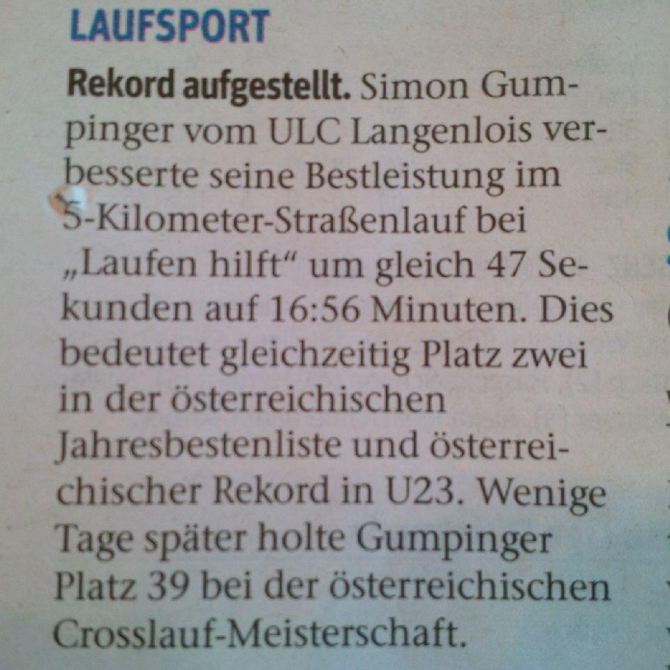 """""""Laufen hilft"""" Wien und ÖM Crosslauf Innsbruck NÖN 12.3.2019"""