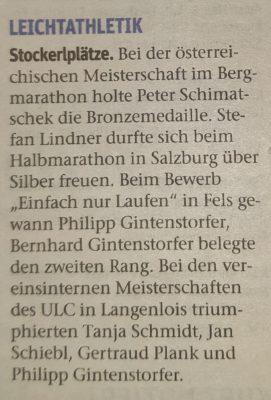 NÖN Krems 6.10.2020 -- ÖM Bergmarathon, ÖM + LM HM, Einfach nur Laufen Fels